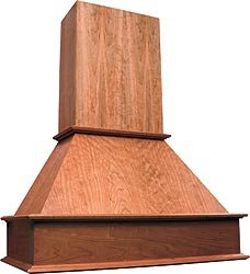 large wood range hood