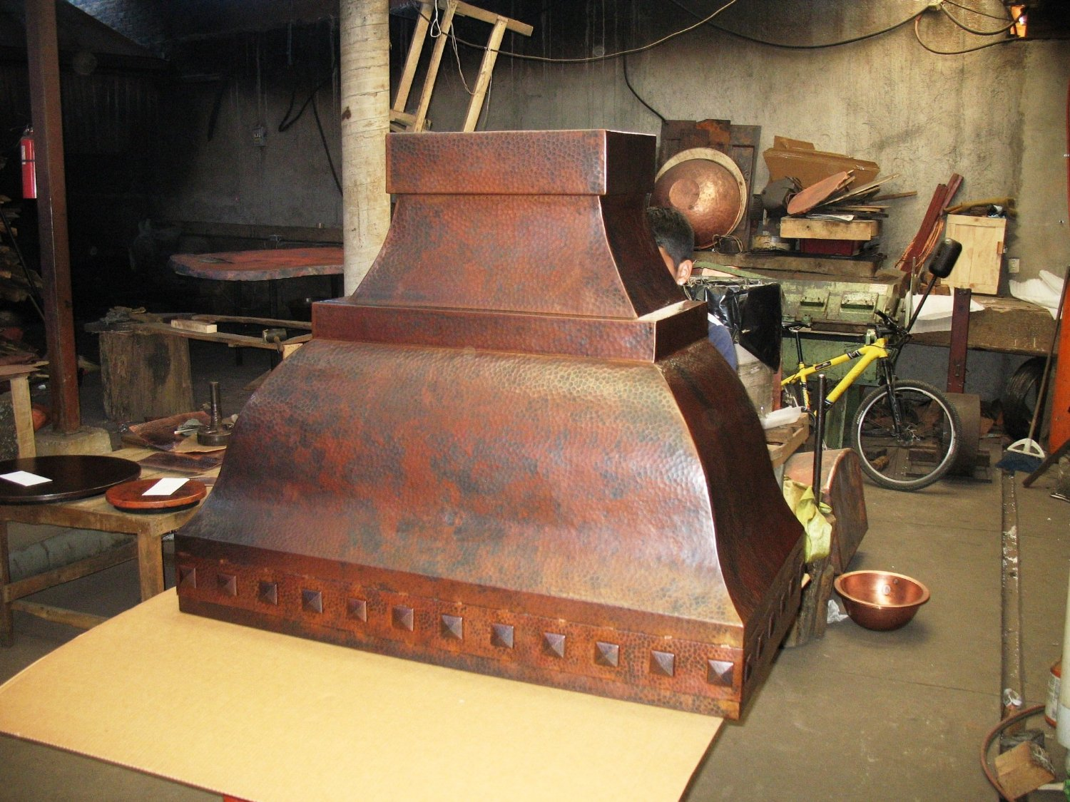mexican copper range hood